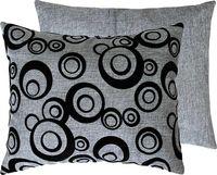 """Подушка """"Круги"""" (37x47 см; серая)"""