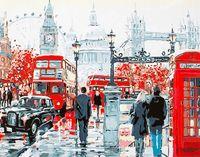 "Картина по номерам ""На улицах Лондона"" (400х500 мм)"
