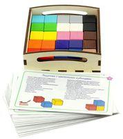 """Игровой набор """"Цветные кубики и карточки"""""""