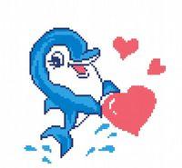 """Вышивка крестом """"Влюбленный дельфин"""""""