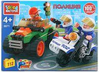 """Конструктор """"Полиция. Полицейская погоня на мотоцикле"""" (112 деталей)"""
