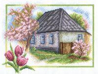 """Вышивка крестом """"Весна в деревне"""" (260х200 мм)"""