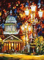 "Картина по номерам ""Мерцание ночи Санкт-Петербурга"" (400х300 мм)"