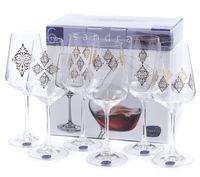 "Бокал для вина стеклянный ""Sandra"" (6 шт.; 350 мл; арт. 40728/S1387/350)"