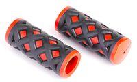 """Грипсы для велосипеда """"HY-500-3G"""" (чёрно-красные)"""