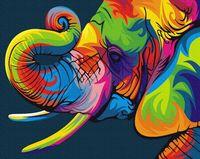 """Картина из песка """"Радужный слон"""" (300х400 мм)"""