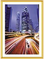"Фоторамка пластиковая ""Poster Lux Gold"" (21 см х 30 см)"