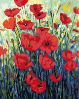 """Картина по номерам """"Джорджия Мансур. Красные маки"""" (400х500 мм)"""