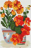 "Алмазная вышивка-мозаика ""Солнечные цветы"" (200х300 мм)"