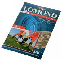 Фотобумага атласная (сатин) односторонняя Lomond (20 листов, 270г/м2, формат А6)