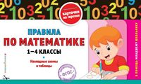 Правила по математике. 1-4 классы