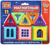 Конструктор магнитный (11 деталей; арт. DT-4022-R)