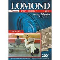 Фотобумага суперглянцевая односторонняя Lomond (20 листов, 200г/м2, формат А6)