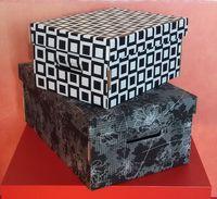 Набор коробок (2 шт.; черный; арт. FLK004c)