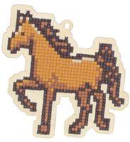"Алмазная вышивка-мозаика ""Брелок. Лошадка"" (106х106 мм)"