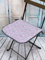 """Подушка на стул """"Seat. Цветы на сером"""" (40х40 см)"""