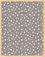 """Простыня хлопковая на резинке """"Stars Grey"""" (140х200 см)"""