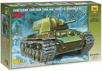 """Сборная модель """"Советский танк КВ-1 с пушкой Л11 обр. 1940 года"""" (масштаб: 1/35)"""