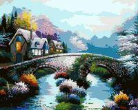 "Картина по номерам ""Старинный мост"" (400х500 мм)"