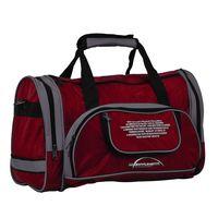 Спортивная сумка 6065с (бордово-серая)