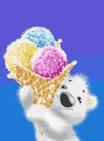 "Картина по номерам ""Медвежонок с мороженым"" (400х300 мм)"