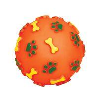 """Игрушка для собак с пищалкой """"Мяч с лапками и косточками"""" (8 см)"""