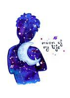 "Открытка ""Яна Поддубская. Moon of my life"" (арт. 1193)"