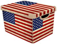"""Коробка для хранения """"USA Flag"""" (39,5х29,5х25 см)"""