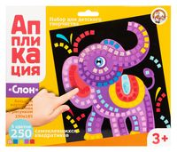 "Картина-аппликация ""Слон"""