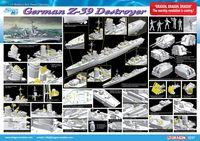 """Эсминец """"German Z-39 Class Destroyer"""" (масштаб: 1/350)"""