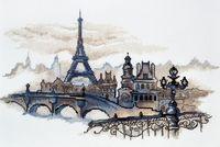 """Вышивка крестом """"Силуэты Парижа"""" (400x240 мм)"""