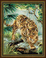 "Вышивка крестом ""Хозяин джунглей"" (300х400 мм)"