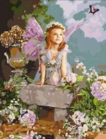 """Картина по номерам """"Весенний ангел"""" (500x650 мм; арт. MMC064)"""