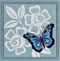 """Вышивка крестом """"Ажурная бабочка"""" (270х270 мм; арт. 1123)"""