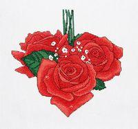 """Вышивка крестом """"Розы сердце. Февраль"""""""