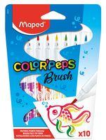 """Набор фломастеров цветных """"Color Peps Brush"""" (10 цветов; с кистевым наконечником)"""