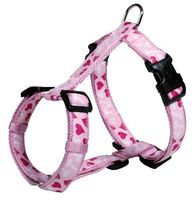 """Шлея для собак """"Modern Art H-Harness Rose Hearts"""" (размер M-L, 50-75 см, розовый, арт. 16008)"""