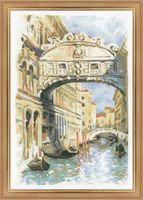 """Вышивка крестом """"Венеция. Мост вздохов"""""""