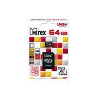 Карта памяти micro SDXC 64Gb Mirex UHS-I Class 10 (с адаптером)