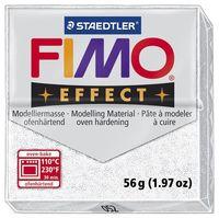 """Глина полимерная """"FIMO Effect"""" (белый металлик; 56 г)"""