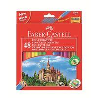 """Цветные карандаши Faber-Castell ECO """"ЗАМОК"""" (48 цветов + точилка)"""