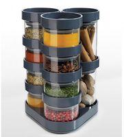 Набор баночек для специй "SpiceStore Carousel" (серый)