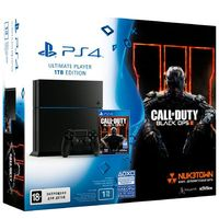 "Игровая консоль Sony PlayStation 4 ""PS4"" 1 TB Черная РСТ + игра «Call of Duty: Black Ops III»"