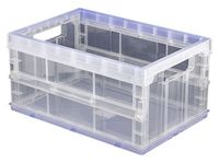 Ящик разборный для хранения (прозрачный; 1 отделение)