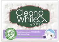 """Хозяйственное мыло """"Clean and White. Против пятен"""" (125 г)"""