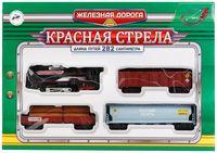 """Железная дорога """"Красная стрела"""" (со световыми и звуковыми эффектами; арт. B869766-R)"""