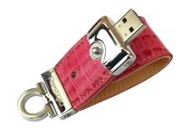 USB Flash Drive 8Gb Prestigio Leather Flash (pink)