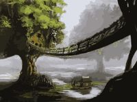 "Картина по номерам ""Домик на дереве"" (400х500 мм)"