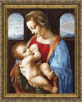"""Вышивка крестом """"Мадонна Литта"""" (445х350 мм)"""