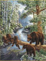 """Вышивка крестом """"Медвежий край"""""""
